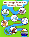 Free Coloring Book - Mississippi River Web.